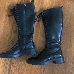 Zara High Shaft Lace Up Boots